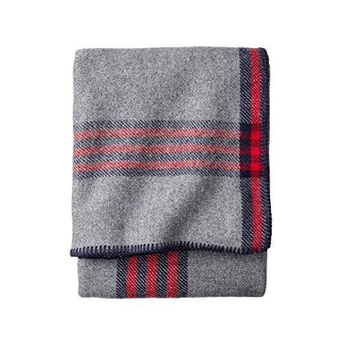 Pendleton, Eco-Wise Washable Wool Blanket, Queen, Camp Plaid