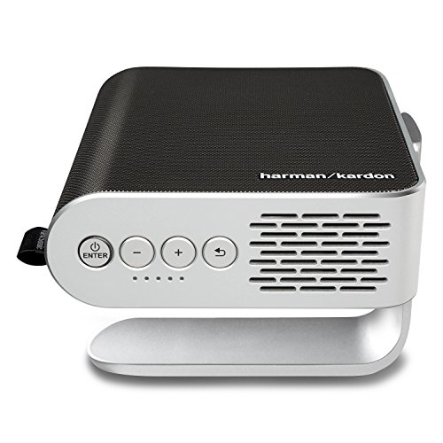 ViewSonic M1 WVGA Ultra-Portable 250 LED Lumens Projector with Dual Harman Kardon Speakers - Silver,Dual 3W Harman Kardon Speakers