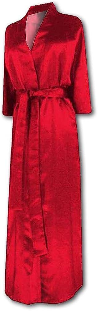 Sanctuarie Designs Plus Size Supersize Robe Womens Red Satin