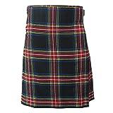"""Tartanista - Kilt écossais pour homme - grande qualité - 61 cm de long (24"""") - Black Stewart - Tour de taille 102cm longueur 61cm"""
