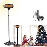 VTAMIN Lámpara eléctrica para jardín, exterior, interior, calentador de patio resistente al agua, 3 niveles de potencia, elemento calefactor de tubo de cuarzo, protección contra vuelcos y sobrecalenta