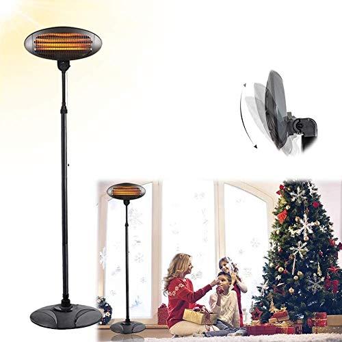 WSZYBAY Lámpara eléctrica para jardín, exterior, interior, calentador de patio resistente al agua, 3 niveles de potencia, elemento calefactor de tubo de cuarzo, protección contra vuelcos y sobrecalent