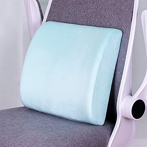 MRBJC Cojín de espuma viscoelástica para interiores y exteriores, para silla de jardín, sofá de mascotas, felpa, decoración para el hogar, oficina, color azul claro 32 x 31 x 10 cm