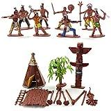 Catkoo 13 Teile/Satz Indianerstämme Figuren Modell Home Desk Decor DIY Landschaft Zubehör, Perfekte Ausbildung Kinder Intelligenz Geschenke