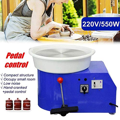 SHIJING draaien van de elektrische pottenbak, keramische machine, 220 V, 550 W, 300 mm, keramische pottenset voor keramische werkzaamheden, 4