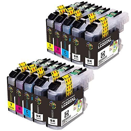 GLEGLE Cartucce d'inchiostro di ricambio per Brother LC223 MFC-J5320DW, J4420DW, J4620DW, J4625DW, J480DW, J5625DW, J5720DW, J680DW, J880DW, DCP-J4120DW e DCP-J562DW Nero, ciano, magenta, giallo