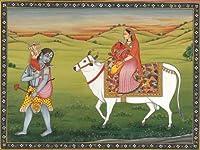 The Loving Family - Water Color Painting on Paper - Artist : Kailash Raj 商品カテゴリー: ポスター 絵画 [並行輸入品]