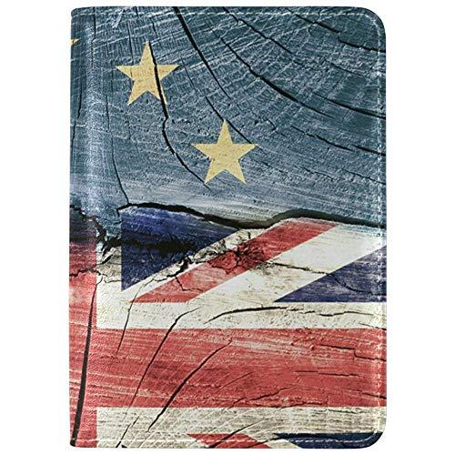 Custom Union Jack London Star Printing Funda para Pasaporte Funda para Titular Protector de Viaje