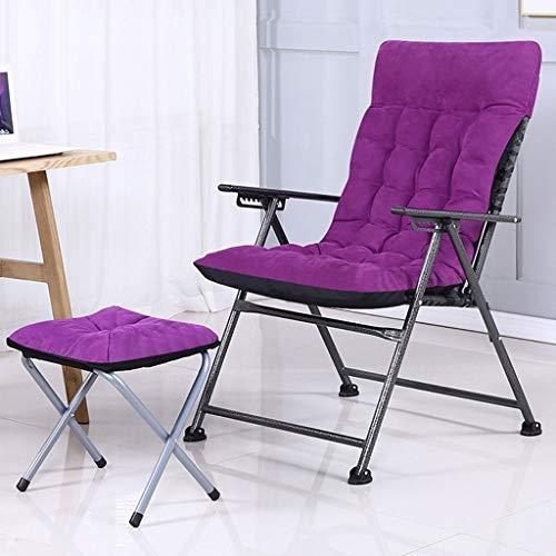 YXYH Gemütlich Fauler Stuhl Bürocomputerhocker Sitz Zusammenklappbares Camping Liegestühle 9-Fach Verstellbar Liegestühle Tragbarer Balkon Garten Draussen Drinnen Stark (Size : D)
