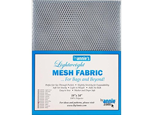 ByAnnie leicht, ca. 45x137cm, 100% Polyester Netzstoff, Silber, 46 x 137 x 0.5 cm
