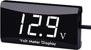 DC 12V Car Digital Voltmeter Gauge - AIMILAR LED Display Voltage Volt Meter for Car Motorcycle (White)