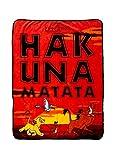 TV Movie Fashion Pop Culture Soft Cozy Fleece Throw Blanket Bedding (The Lion King Hakuna Matata)