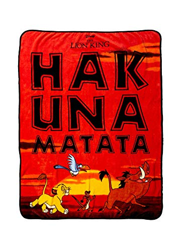 TV Movie Fashion Pop Culture Soft Cozy Fleece Throw Blanket Bedding (The Lion King Hakuna Matata)