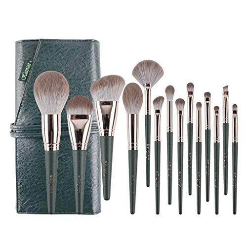 GCX- 14 Maquillage Ensembles Brosse Ensemble Complet de Pinceau Poudre Pinceau Fond de Teint Portable Sac de Rangement Souple Beau