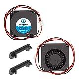 WINSINN Dual Ball Bearings 40mm Blower Fan Brushless Cooling 12V 4010 40mm10mm (Pack of 2Pcs)