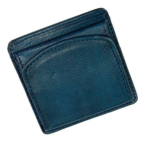 バギーポート メンズ レディース ユニセックス BAGGY PORT ILS別注 コンパクト ウォレット 極薄 極小 軽量 コンビニ ミニマム アリゾナ 牛革 ボックス型 小銭入 硬貨 財布 lbp0001005-0064 ブルー Blue
