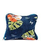 Lug Nap Sac Fleece Travel Pillow & Travel Blanket Set, Aloha Navy