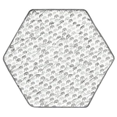 TUOERQI-Hexagon-Playpen-Mat-Compatible-Regalo-Play-Yard 6 Panel. Playpen Mat Not Compatible 8 Panel Play Yard. Hexagon Mattress for Playpen is Anti-Slip. Hexagon Play Mat