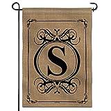 Anley Classic Monogram Letter S Garden Flag,...