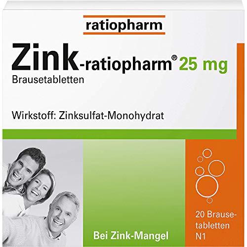 Zink-ratiopharm 25 mg, 20 St