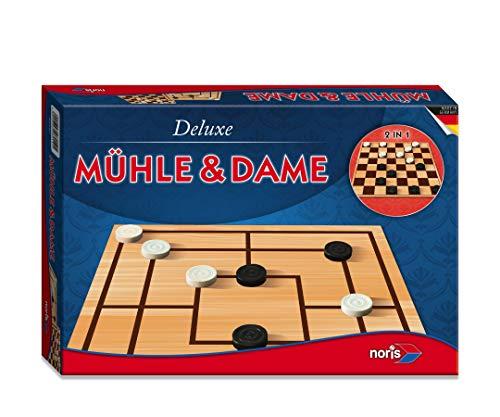 Noris 606108012 606108012-Deluxe-molen en dames, speelklassieker