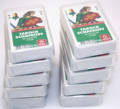ASS Zehnerpaket TAROCK SCHAFKOPF Bayerisches Bild Spielkarten