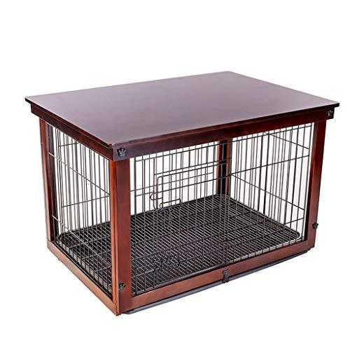 Cucce Gabbia for Cani Recinzione for Animali Domestici di Grandi Dimensioni Cuccia Recinzione Esterna Gabbia di Animali Domestici in Ferro Massello (Color : Brown, Size : 64 * 52 * 58cm)