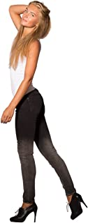 Rubberband Stretch Women's Skinny Ombre Jeans (Sarina/Gradient)