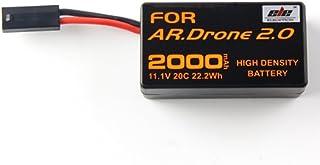 Eleoption リチウムバッテリー 互換バッテリー 高品質 大容量 電池2000mAh 11.1V Parrot ドローン用バッテリー AR.Drone 2.0対応 (1個)
