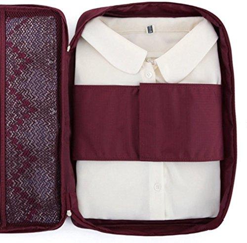 ducomi 644766105748 Cloonie Organizer reistas voor overhemden en stropdassen, Burgundy