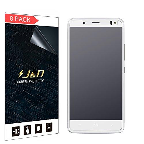 JundD Kompatibel für 8er Set BQ Aquaris VS Bildschirmschutzfolie, [Antireflektierend] [Anti Fingerabdruck] [Nicht Ganze Deckung] Hochwertige Matte Folie Schutzschild Bildschirmschutzfolie für BQ Aquaris VS