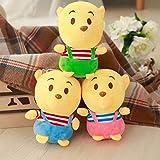 SHANGZHIQIN Soft Mini Winnie Bear Plush Toy, Stuffed Bear Plush Soft Toys, para Cama de niños Toy 3 Piezas 18cm
