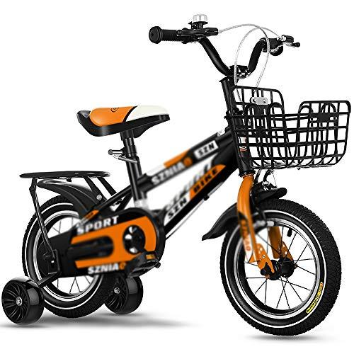 Bicicletas con Estabilizadores Bicicleta Deportiva para Niños con 2 Ruedas Auxiliares Estabilizadores Extraíbles Asiento Ajustable Cochecito para Niños Tamaño Múltiple