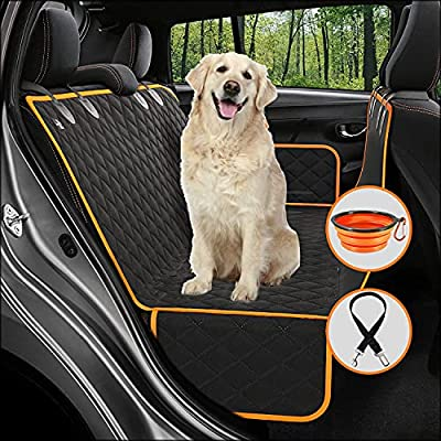 Amazon - 505 Off on  Dog Car Seat Cover for Back Seat, Pet Car Seat, Dog Hammock for Car