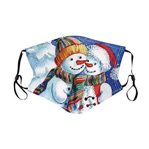 N / A Die Weihnachtsgesichtsmaske kann angepasst Werden und die lustige Stoffgesichtsmaske ist waschbar und für Männer und Frauen wiederverwendbar