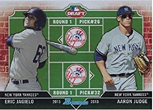 2013 Bowman Draft Dual Draftee Aaron Judge & Eric Jagielo - New York Yankees Baseball Rookie Card RC #DD-JJ