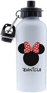 Kembilove Botella de Agua Niños Personalizada con Nombre – Cantimplora Infantil Acero Inoxidable – Regalos Infantiles Pers...