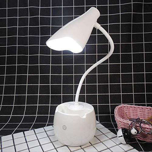 Raak het verduisteren van de gevoerde ooglamphouder voor studentenhuis, dat het lezen van nachtlamp/wit leren.