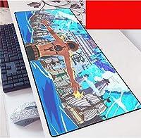 マウスパッド ワンピースアニメラージマウスマットアニメラップトップマウスパッドノートブックコンピューターキーボードゲーミングマウスパッドゲーマープレイマット-(A)_60X30Cm
