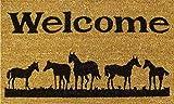 Horses Welcome 17'x29' Coir with Vinyl Backing Doormat