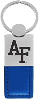 United States Air Force Academy-Leather and Metal Keychain-Blue