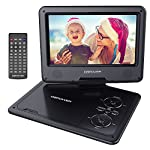 DBPOWER 9.5-Inch Portable DVD Player with Rechargeable Battery, SD Card Slot and USB Port – Black