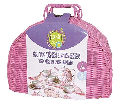 Tachan- Juego de te en cesta de picnic (CPA Toy Group Trading S.L. CH90414) , color/modelo surtido