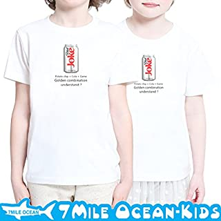 7MILE OCEAN 半袖 プリント キッズ ガールズ 子供服 男の子 女の子 ジュニア パロディー オモシロ 90 100 110 120 130 140 150 160 ペアルック 140 ASHGREY gsvmkids0139