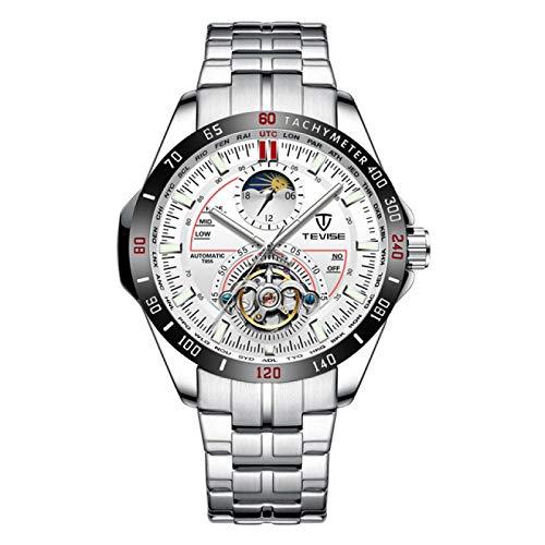 GUOJIAYI Reloj mecánico de lujo de los hombres reloj automático reloj reloj masculino negocios impermeable reloj