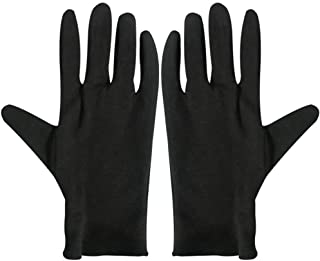 Minkissy 12 pares de guantes de algodón antipolvo guantes de trabajo industriales guantes hidratantes guantes protectores para manos de trabajo talla S (negro), negro, 4213013VGQ