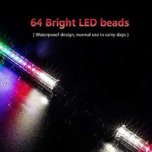 """Achort Rueda de Bicicleta Luces 64 LED, 30 Patrones, Rueda de Ciclismo, Luz de Radios, llanta de Bicicleta, luz a Prueba de Agua para Bicicletas, Rueda de MTB, llanta de más de 24"""""""