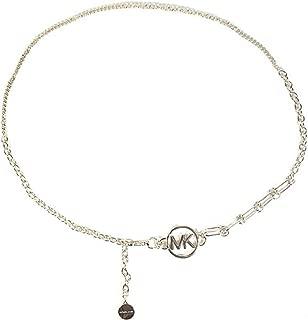 Michael Kors MK Logo Chain Belt Silver Size S/M