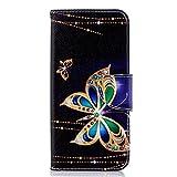 Hozor Samsung Galaxy J6 2018 cas, conception d'impression en aérosol peint, PU portefeuille en cuir Flip, avec...
