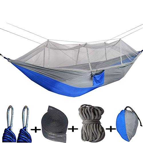 SWEET Hamacas Jardín al Aire Libre, Columpio Camping Portátil Interior Al Aire Libre Ligero Hamacas de paracaídas de Nylon para Viajes, Playa